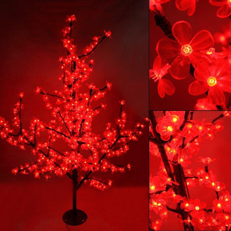 1.5 м Водонепроницаемый светодиодный Cherry Blossom кристалл дерево ночные огни ветви внутреннего освещения Рождество Новый год Свадебные украшен