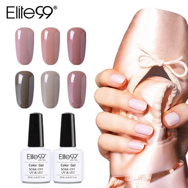 Elite99 10ml New Arrival Nude Colors UV Gel Manicure Soak Off Nail Art Polish Long Lasting Nail Gel Varnish 48 Colors Available