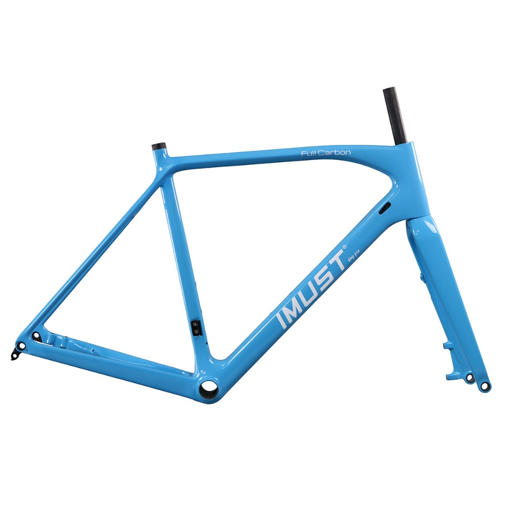 CX flat mount 12mm front fork and 135/142mm rear space 700C carbon cyclocross bike frame AC388 thru axle Disc brake with BB86 цена 2017