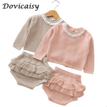 Dovicaisy T Autumn Winter Baby Girls Rompers Bow Cotton