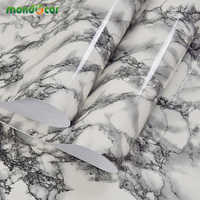 3M Marble Waterproof Vinyl Self adhesive Wallpaper Sticker Modern Contact Paper for Kitchen Cupboard Living Room Wall Stickers