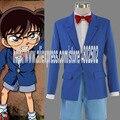 Trajes de anime Detective Conan cosplay disfraces de halloween capa + tie + shirt + shorts para niños tamaño XS_XXL