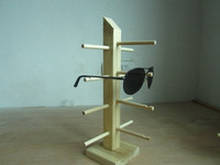 Eyeglass Sunglass Rack Storage Shelf Wood Hang Display Wooden Handmade detachable 4 layer 4 pairs of glases