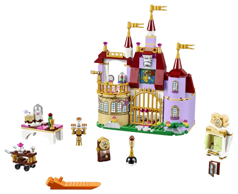 Beauty and The Beast 37001 Princess Belles Enchanted Castle Building Blocks for Girl Kids Model Toys Compatible with aladdin and the enchanted lamp stage 1 cd rom