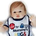 55 cm Bebe Reborn Baby Doll Real 22 pulgadas de Silicona Muñeca Juguetes Para Niños Niñas Bebes Brinquedos juguetes De Silicona de Navidad regalos
