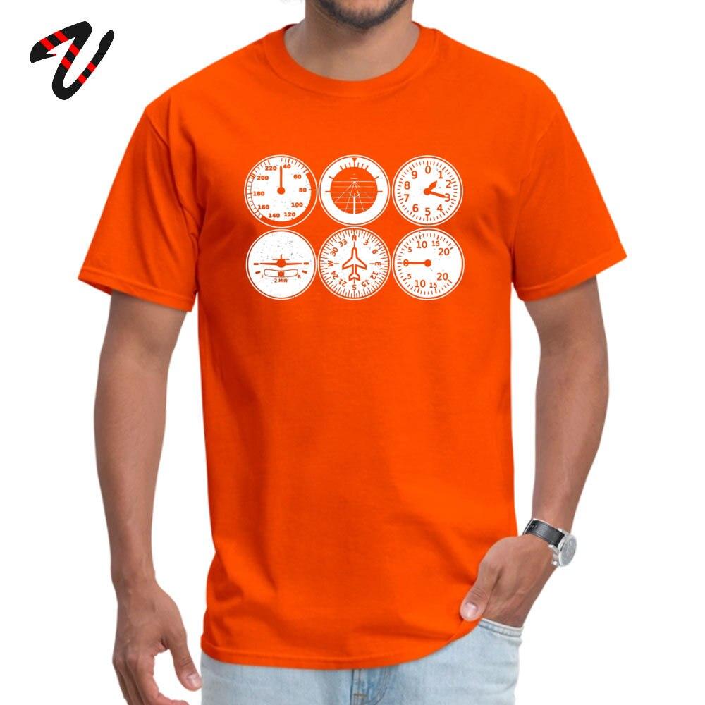 Young Tshirts Custom Funny Tops & Tees Cotton Fabric Crew Neck Short Sleeve Summer T Shirts Summer Top Quality Flight Simulator T shirt - pilot - aircraft -19549 orange