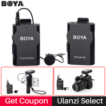 Boya BY-WM4 Professionelle Wireless-mikrofonsystem Lavalier Revers Mikrofon für Canon Nikon Sony DSLR Camcorder Recorder für iPhone 6