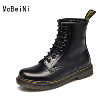 Sepatu Bot Musim Gugur dan Musim Dingin Rendah Inggris Martin Boots Wanita Sepatu  Bot Kulit Wanita 55e5ced2f8