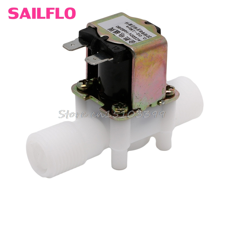 AC220V Electric Solenoid Valve Magnetic N/C Water Air Inlet Flow Switch N/C 1/2 G08 Drop ship