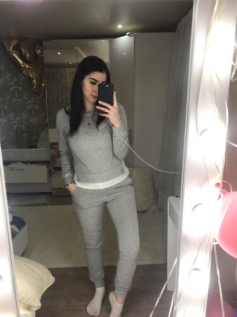 Autumn Tracksuit Long Sleeve Slit Solid Sweatshirts Casual Suit Women Clothing 2 Piece Set Tops+Pants Sporting Suit Female