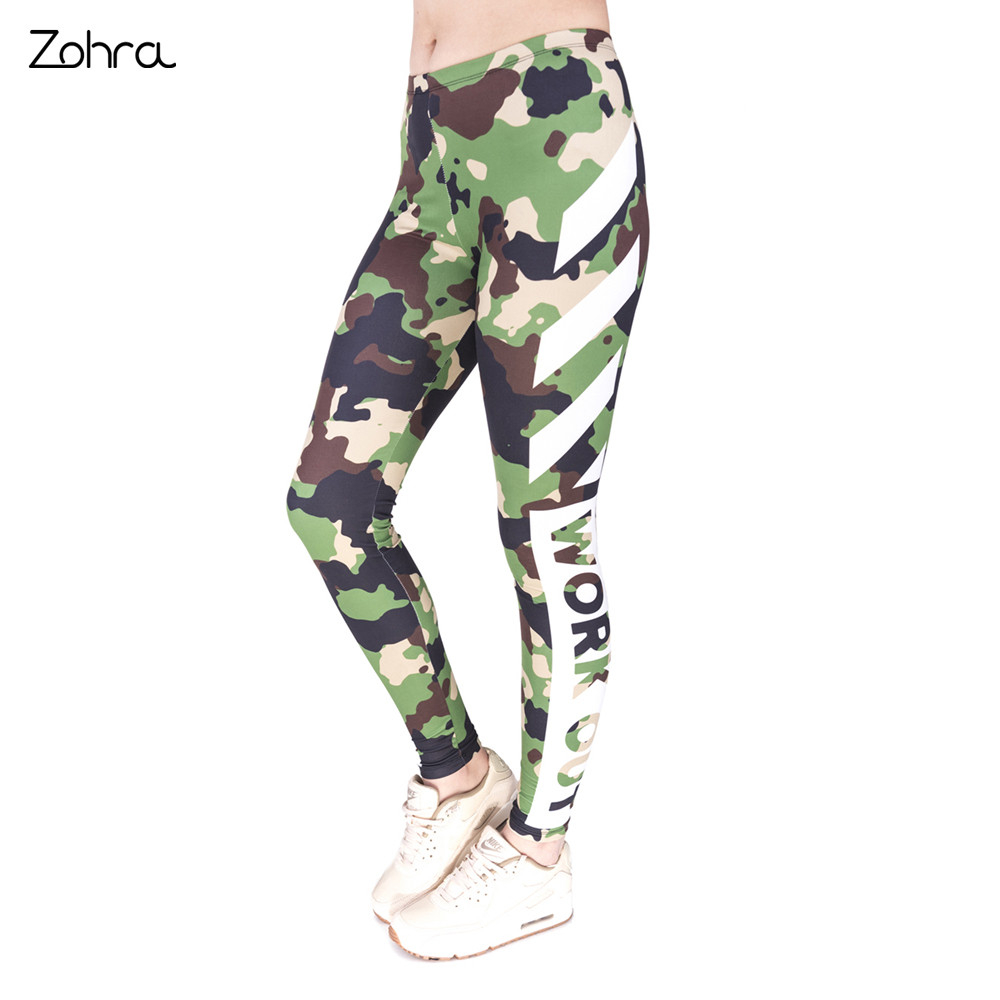 Zohra High Quality Fitness   Legging   Work Out Camo Printing Sexy Cozy   Leggings   High Waist Women Pants