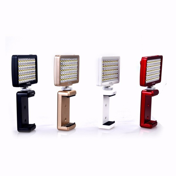 Commlite CoMiray CM-L50 MINI LED Luce video per Cellulare//Pad//fotocamera DSLR//Gopro