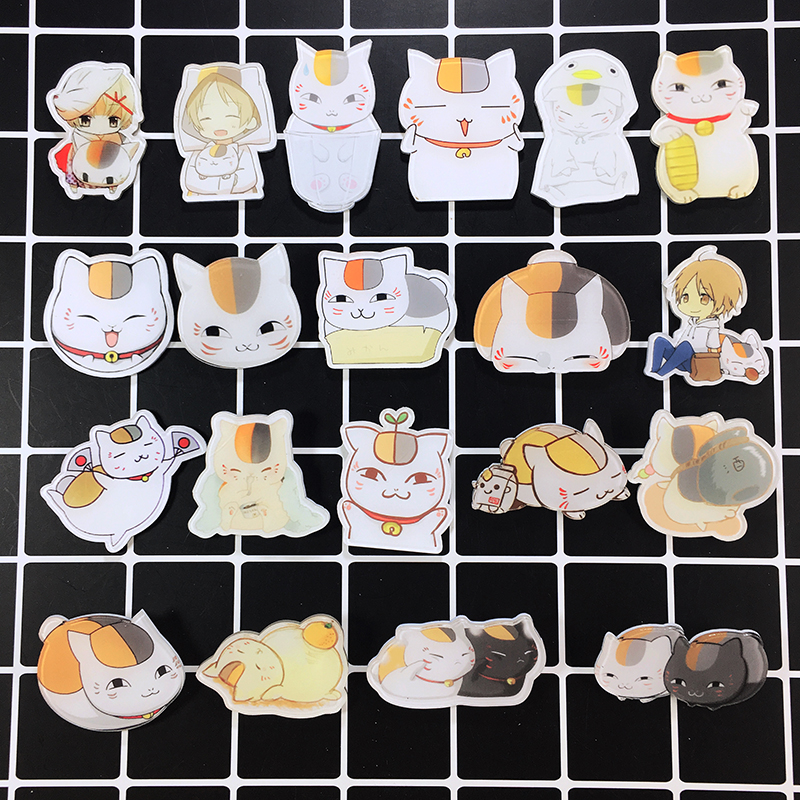 Anime Natsume Yuujinchou Cosplay Acrylic Badges Sensei Cat  Brooch Pin Backpack Clothes Cute Decoration Brooches