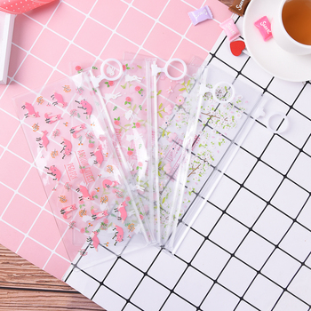 Autumn Mysterious Small Flowers Animals PVC Waterproof Pencil Bag Stationery Storage Organizer Bag School Supply Student Prize image