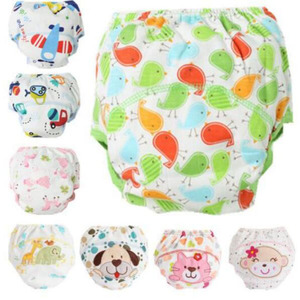 1Pcs Cute Baby Diapers Reusable Nappies Cloth Diaper Washable Infants Children Baby Cotton Training Pants Panties Nappy Changing