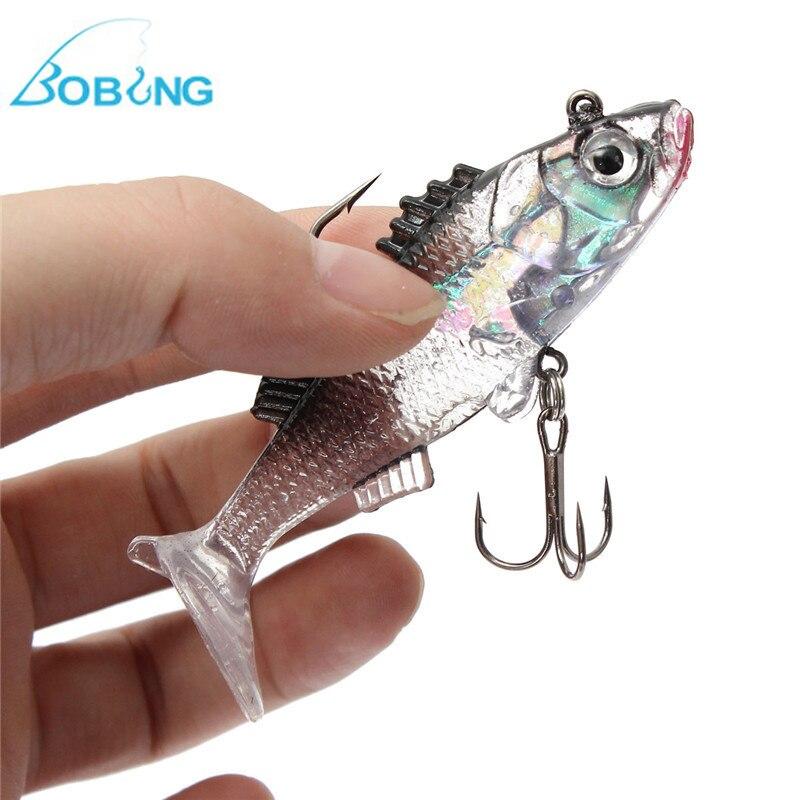 ᗔBobing 7.6 cm 15g plomo Anzuelos de pesca paillette piel 3D ...