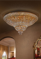 Phube Lighting Empire Gold Crystal Ceiling Light Luxury K9 Crystal Ceiling Lamp Lighting Chrome Lustre Free Shipping