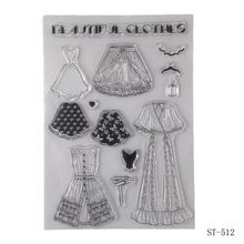 ZhuoAng Small skirt design stamp / scrapbook rubber craft clear card seamless