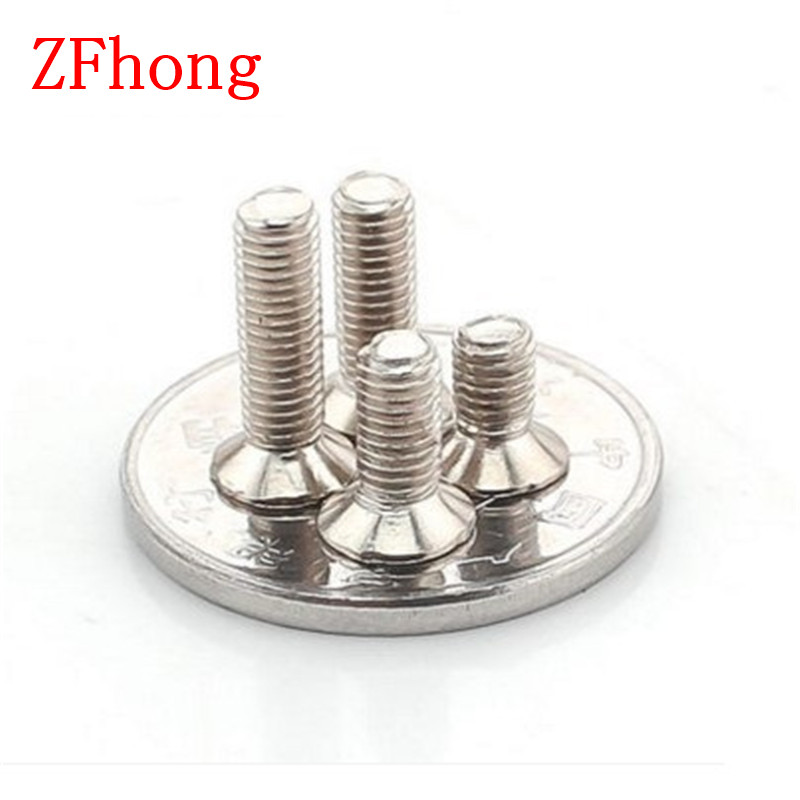 2000PCS M1 M1.2 M1.4 Steel nickel Plated Flat countersunk head machine screw