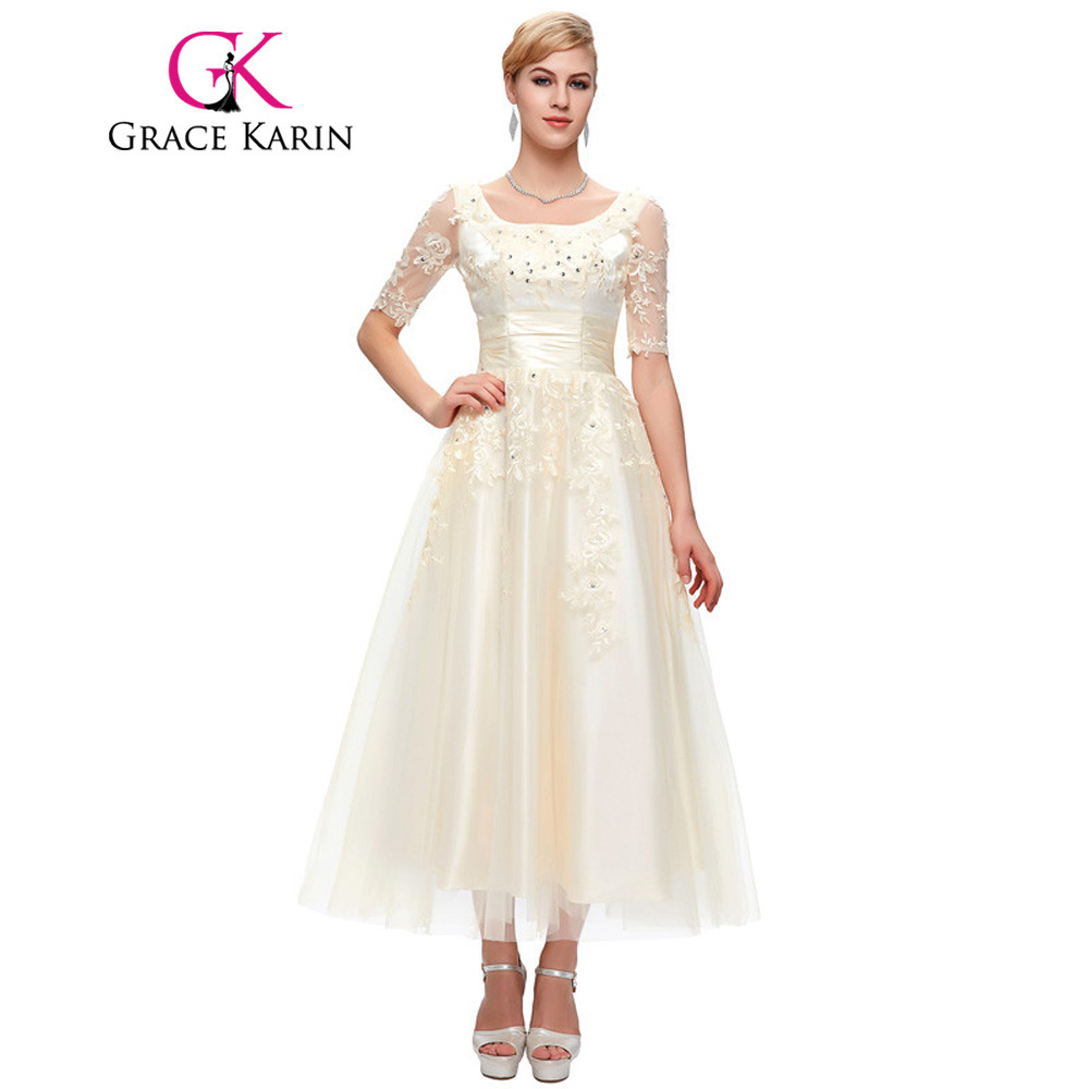 Grace Karin Mother Of The Bride Dresses With Sleeves Lace ...