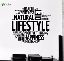 YOYOYU Vinyl Wall Decal Lifestyle Methodological Discourse Of Healthy Living Diet Interior Decoration Stickers FD260