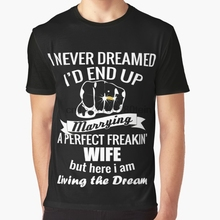 2105895625e All Over Print 3D Women T Shirt Men Funny tshirt I never dreamed id end up  marrying