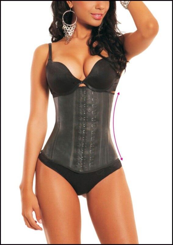 Ann Chery 2025 taille Corset Cincher Latex ceinture noir taille S-2XL ~ Latex Corset ~ corset slim fit