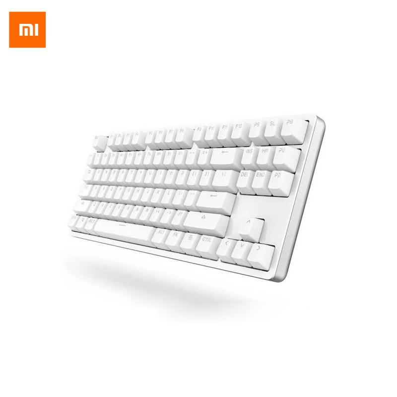 Клавиатура Xiaomi Yuemi 87 клавиш Механическая LED TTC красный переключатель подсветка игровая клавиатура с подсветкой алюминиевый сплав для геймер...