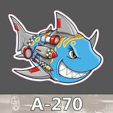 A-270 Shark Wasserdicht Mode Kühle DIY Aufkleber Für Laptop Gepäck Skateboard Kühlschrank Auto Graffiti Cartoon Aufkleber