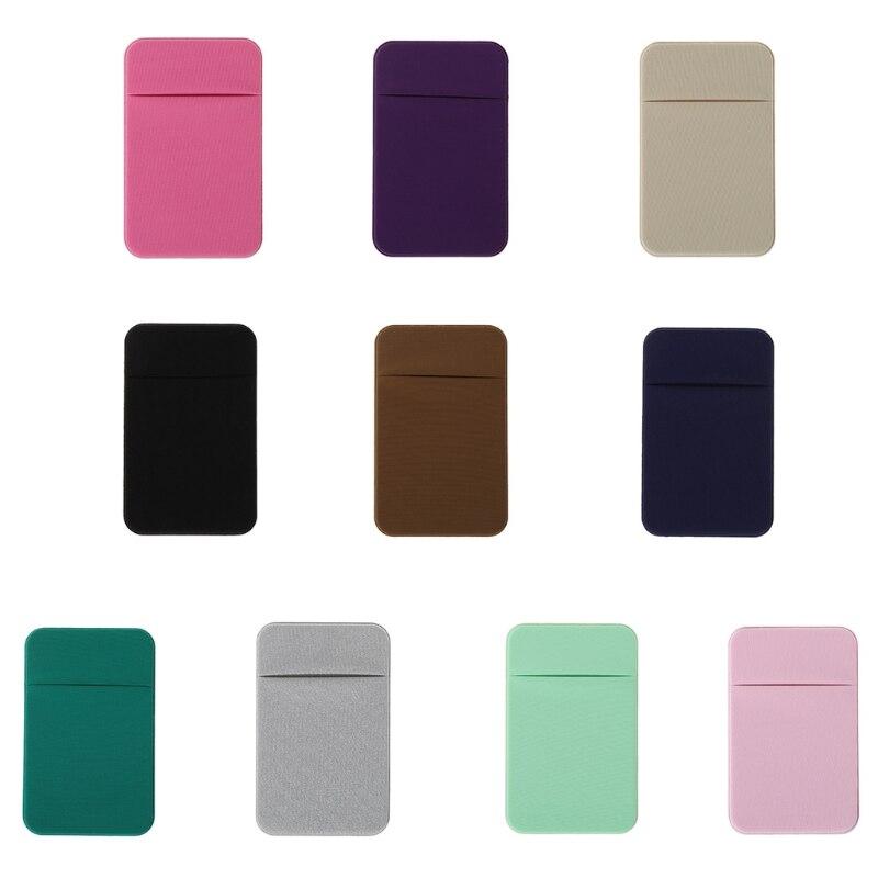 THINKTHENDO Mobile Phone Credit Card Wallet Holder Pocket Stick-On Adhesive Elastic Tool   THINKTHENDO Mobile Phone Credit Card Wallet Holder Pocket Stick-On Adhesive Elastic Tool