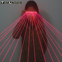 650nm Red Laser Glasses Line Laser X Men Police Glasses For LED Growing Light Performance Stage Costume Clothes