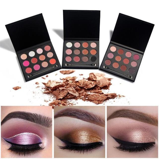 Huamianli 12 color eyeshadow palett new pearl eye shadow like the flowder and the butterfly flying Earth color smoked eye shadow