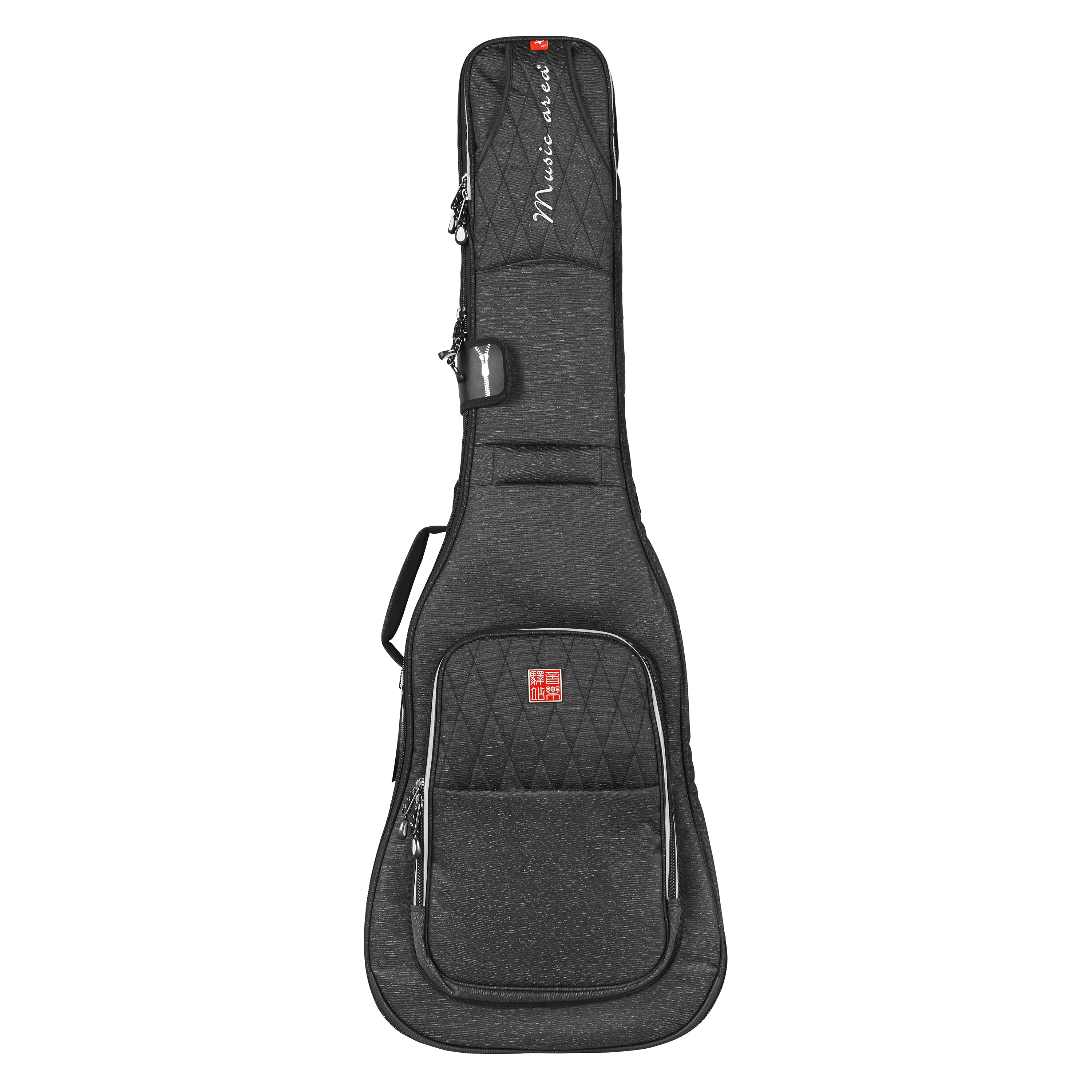Music Area High-end Electric Bass Gig Bag 900D Polyester Black Soft Bass Case TANG30 EB Waterproof 30mm Cushion 12mm waterproof soprano concert ukulele bag case backpack 23 24 26 inch ukelele beige mini guitar accessories gig pu leather