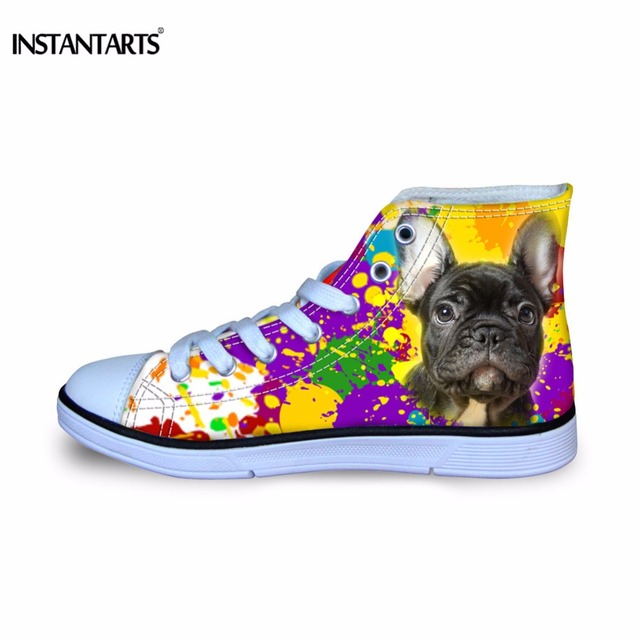 832aa98b738 INSTANTARTS Art Painting Dog Printing Boys Sneakers Childrens Stylish  Breathable Canvas Shoes Stylish Comofort Kids Sport Shoes