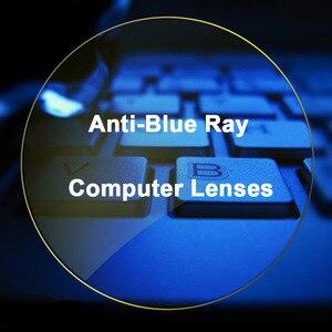 Image 2 - 1.56 عدسات طبية مضادة للأشعة الزرقاء رؤية واحدة للرجال والنساء وصفة طبية عدسات تصحيح الرؤية للأجهزة الرقمية