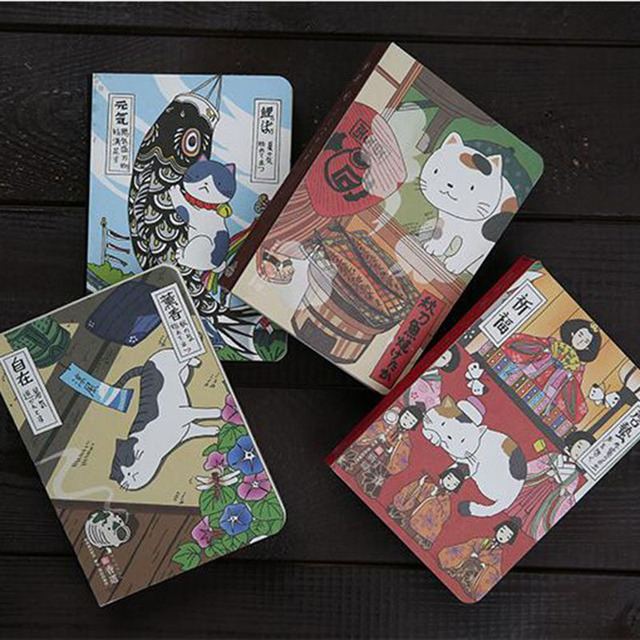 Creative Japanese Cats Printed Notebook