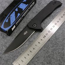 Magic ZT0804 ball bearing Folding Knife D2 black titanium G10 Handle Camping Hunting pocket Survival Knife Outdoor EDC Tool