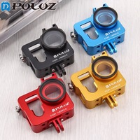 PULUZ For Go Pro Accessories Housing Shell Aluminum Alloy Protective Case Cage W UV Lens Filter