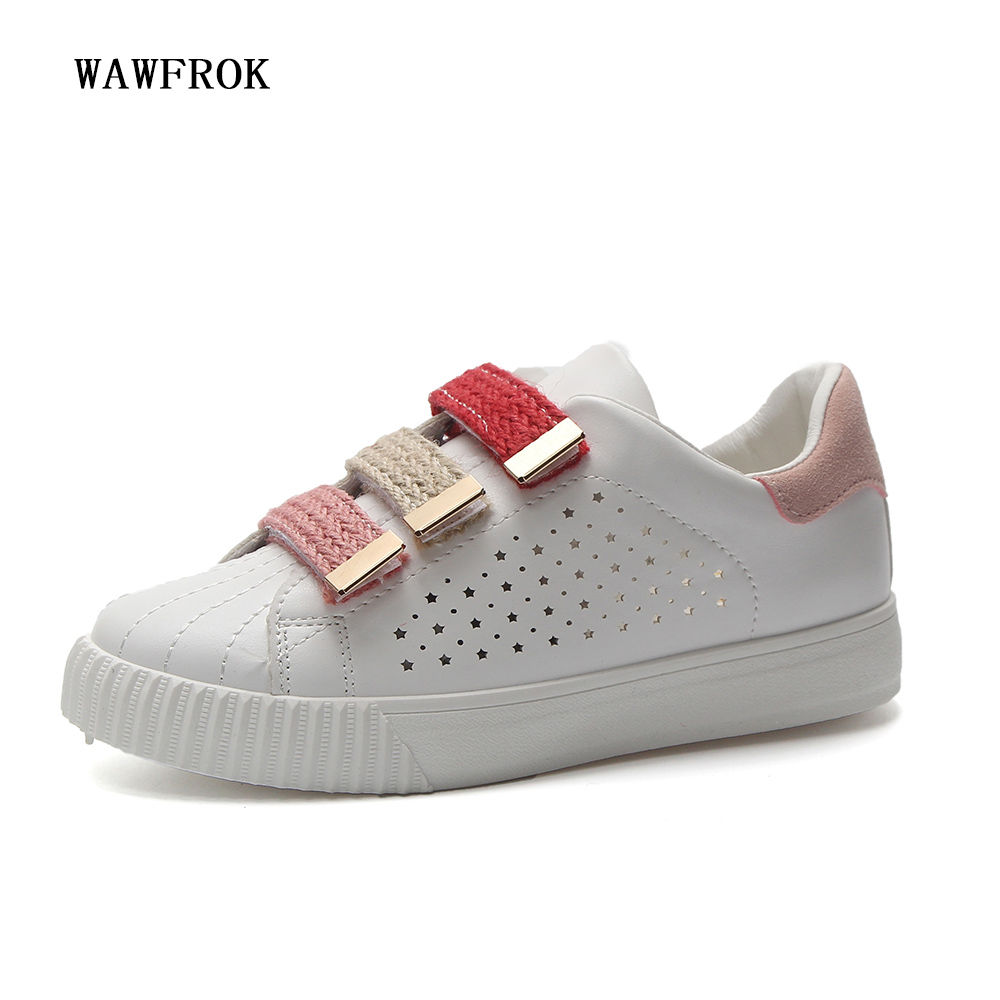 Women Casual Shoes 2018 Spring Summer Leather Shoes Woman Flats Platform Fashion Breathable Hollow Women Sneakers women creepers shoes 2015 summer breathable white gauze hollow platform shoes women fashion sandals x525 50