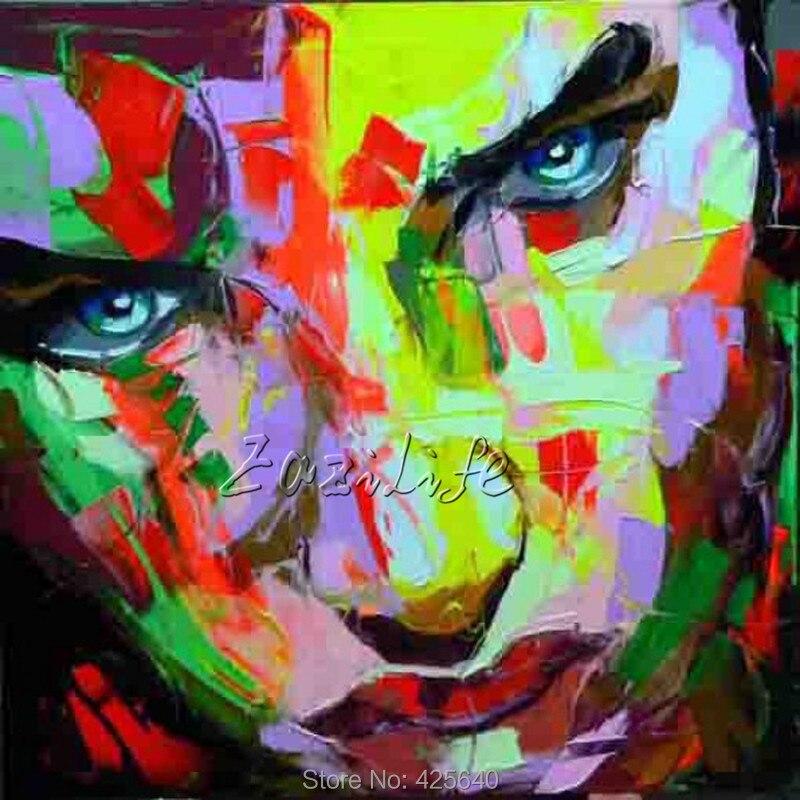 Palette font b knife b font portrait Face Oil painting christmas figure canva Hand painted Francoise