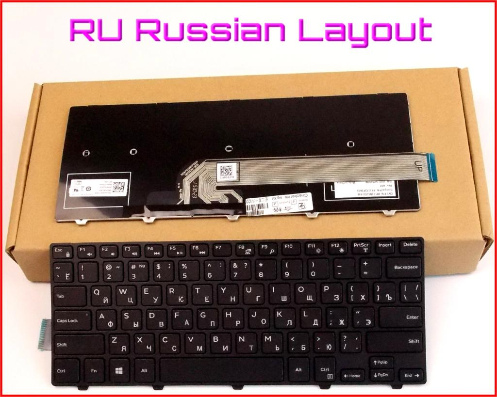 New Keyboard RU Russian Version For Dell Latitude 3450 V147125AS1 SN8233 050X15 Laptop No-Backlight With Frame Black