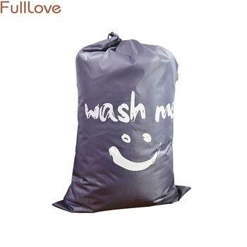 61*92 см Smile Face печатная стеганая сумка для хранения 2018 новая нейлоновая серая сумка на шнурке для игрушек органайзер для одежды для гардероба