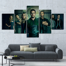 5 Piece Green Arrow Movie Poster Paintings Superhero Pictures Canvas for Home Decor Wall Art