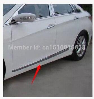 2010-2013 Dla Hyundai Sonata ABS Chrome Boczne Listwy Boczne Drzwi Dekoracji 4 Sztuk