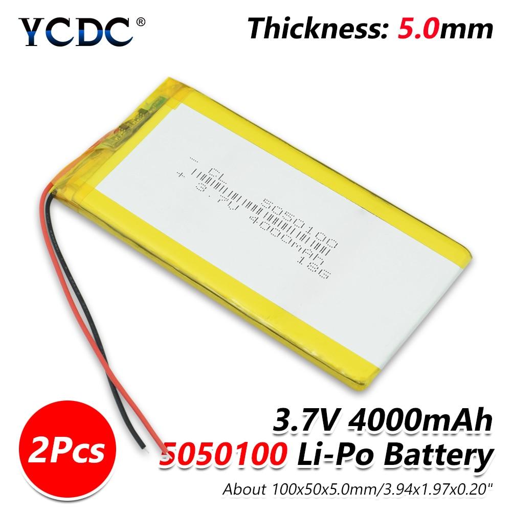 Tamanho 5050100 3.7 v 4000 mah Lipo células li-ion Recarregável de Polímero De Lítio Li-Po Bateria Para Notebook PDA Portátil dispositivos de POS