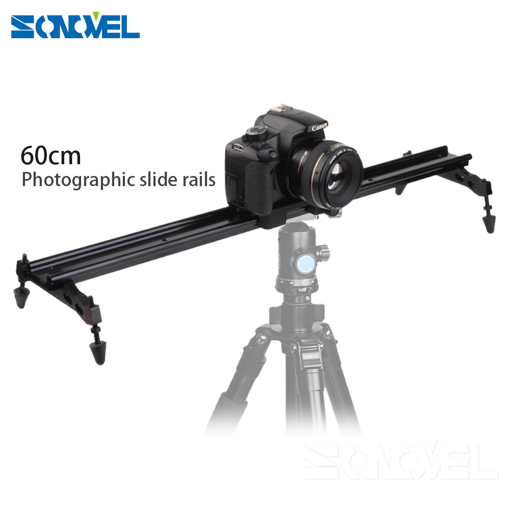 Studio 24 60cm 31 80cm DSLR DV Camera Track Dolly Slider Video Stabilizer System For Canon