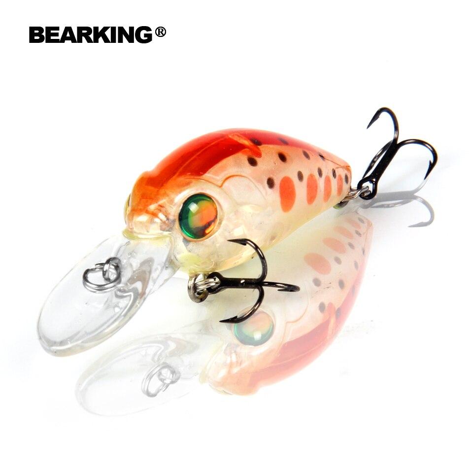 Bearking modelo profesional caliente señuelos de la pesca de A +, 10 para elegir, minnow, manivela 35mm 3.7G, buceo 2.0 m pesca dura cebo