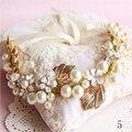 Cristais Jóias Cabelo do vintage 2016 Casamento Chapéus De Noiva com Pérolas Flores de Contas Feitas À Mão para Noivas Acessórios