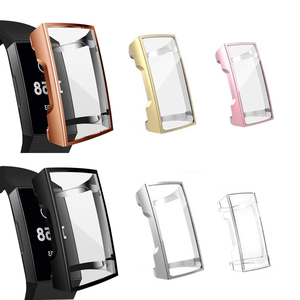 Image 1 - Siliconen Case Cover Voor Fitbit Lading 3 Band Tpu Protector Frame Voor Fit Bit Charge3 Beschermende Shell Vervanging Accessoires