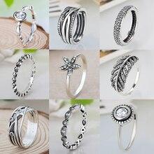 Классические винтажные кольца в серебряном стиле, круглые кольца с цирконием и кристаллами для женщин, ювелирные изделия для свадебной вечеринки, Прямая поставка